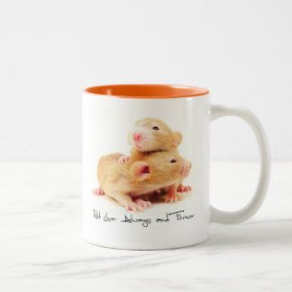 Rat Lover Always and Forever Two-Tone Coffee Mug