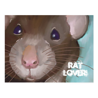 Rat Lover Postcard