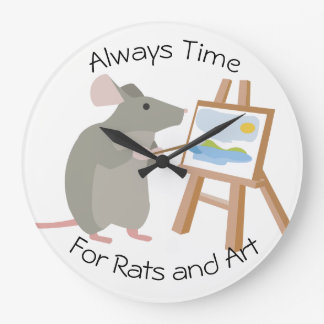 Rat Loving Artists Beware Large Clock