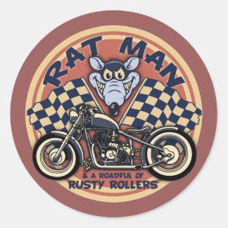 Rat Man Roadful Classic Round Sticker