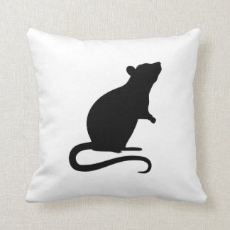 Rat mouse throw pillow