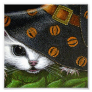 RAT MOUSE WITH HALLOWEEN WITCH HAT PHOTO ART