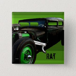 Rat Rod 2 Inch Square Button