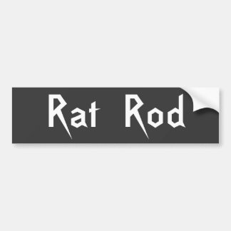 Rat Rod Bumper Sticker