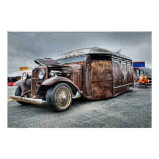 Rat Rod Bus Hot Rod Thing Poster
