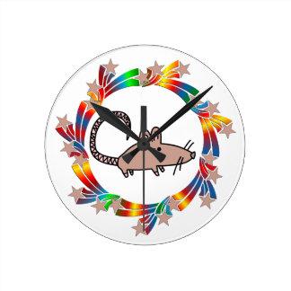 Rat Stars Round Clock