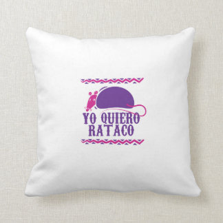 Rat Taco Throw Pillow