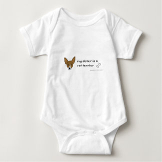 rat terrier baby bodysuit