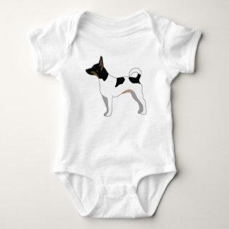 Rat Terrier Basic Breed Silhouette Design Baby Bodysuit