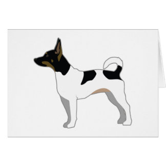 Rat Terrier Basic Breed Silhouette Design Card