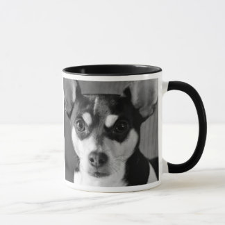 Rat Terrier, Black and White, Dog Breed Mug