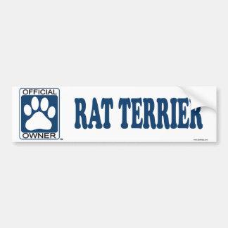 RAT TERRIER_Blue Bumper Sticker