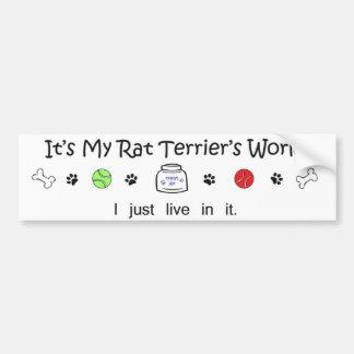 rat terrier bumper sticker