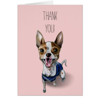 Rat Terrier Dog Watercolor Painting Card