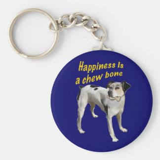 rat terrier happiness keychain