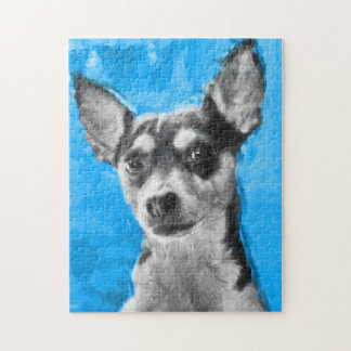 Rat Terrier, Modern Art, Jigsaw Puzzle