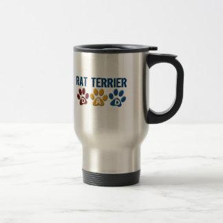 RAT TERRIER Mom Paw Print 1 15 Oz Stainless Steel Travel Mug