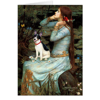 Rat Terrier - Ophelia Seated Card