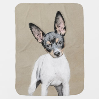 Rat Terrier Painting - Cute Original Dog Art Baby Blanket