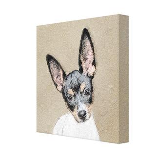 Rat Terrier Painting - Cute Original Dog Art Canvas Print