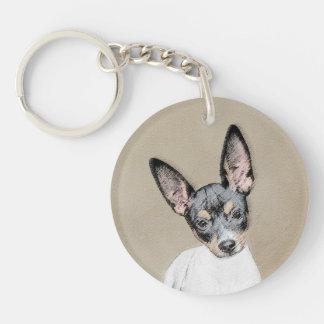 Rat Terrier Painting - Cute Original Dog Art Keychain