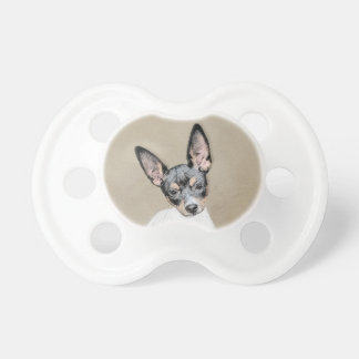 Rat Terrier Painting - Cute Original Dog Art Pacifier