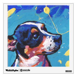 Rat Terrier Pop Art Wall Sticker
