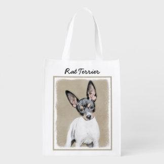 Rat Terrier Reusable Grocery Bag