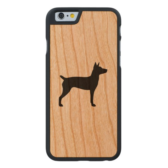 Rat Terrier Silhouette Carved® Cherry iPhone 6 Slim Case