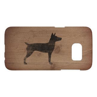 Rat Terrier Silhouette Rustic Samsung Galaxy S7 Case