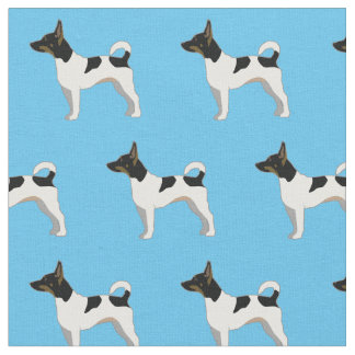 Rat Terrier Silhouette Tiled - Basic Breed 1 Fabric