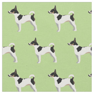 Rat Terrier Silhouette Tiled - Basic Breed 2 Fabric