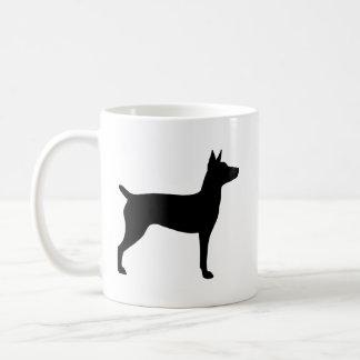 Rat Terrier Silhouettes Coffee Mug