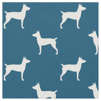 Rat Terrier Silhouettes Pattern Fabric
