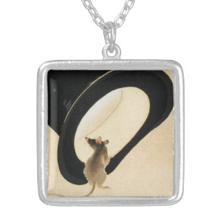 Rat Year 2020 Born in Rat Year Birthday Silver Plated Necklace