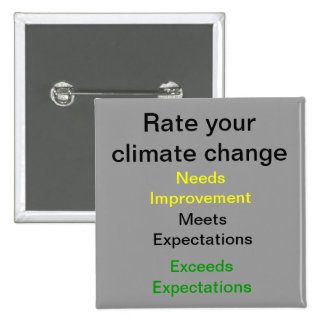 Rate your Climate Change 2 Inch Square Button