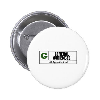 Rated G Pinback Buttons