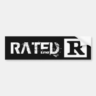 Rated R, Rating System Bumper Sticker