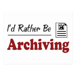 Rather Be Archiving Postcard