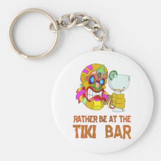 Rather be at the Tiki Bar TIKI Mask Keychain