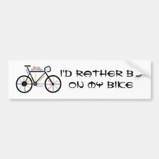 Rather be Biking Sport - Biking, Cycling, Bike Bumper Sticker