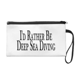 Rather Be Deep Sea Diving Wristlet Purses