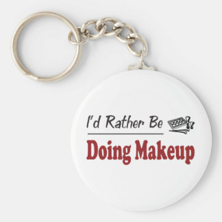 Rather Be Doing Makeup Basic Round Button Keychain