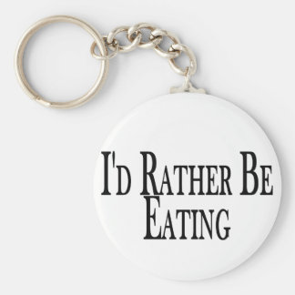 Rather Be Eating Keychain