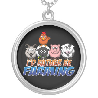 Rather Be Farming Necklace