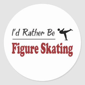 Rather Be Figure Skating Classic Round Sticker