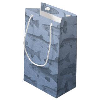 Rather Be Fishing Custom Fish Pattern Small Gift Bag