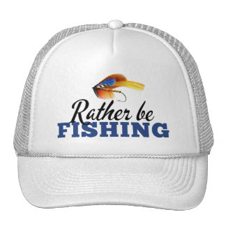 Rather Be Fishing Custom Trucker Hat