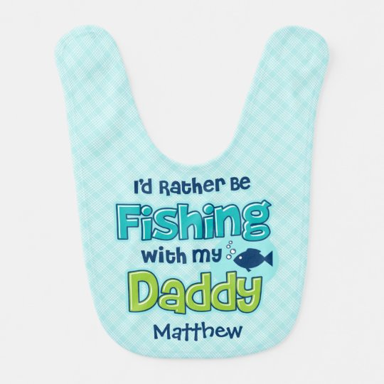 Rather Be Fishing Dad Bibs