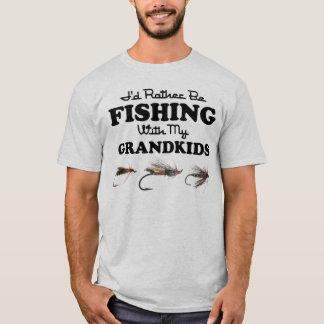 Rather Be Fishing Grandkids T-Shirt
